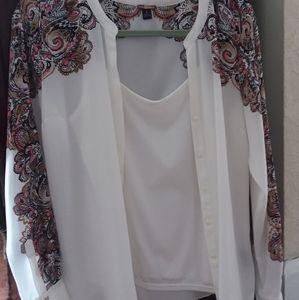 Women's L/S Dress Shirt w/Camisole